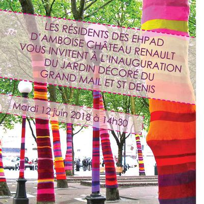 INAUGURATION DU JARDIN DECORE A L'EHPAD GRAND MAIL & SAINT DENIS