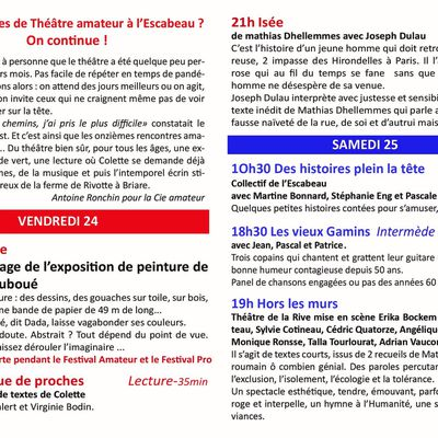 Festival de théâtre amateur du théâtre de L'Escabeau à Briare