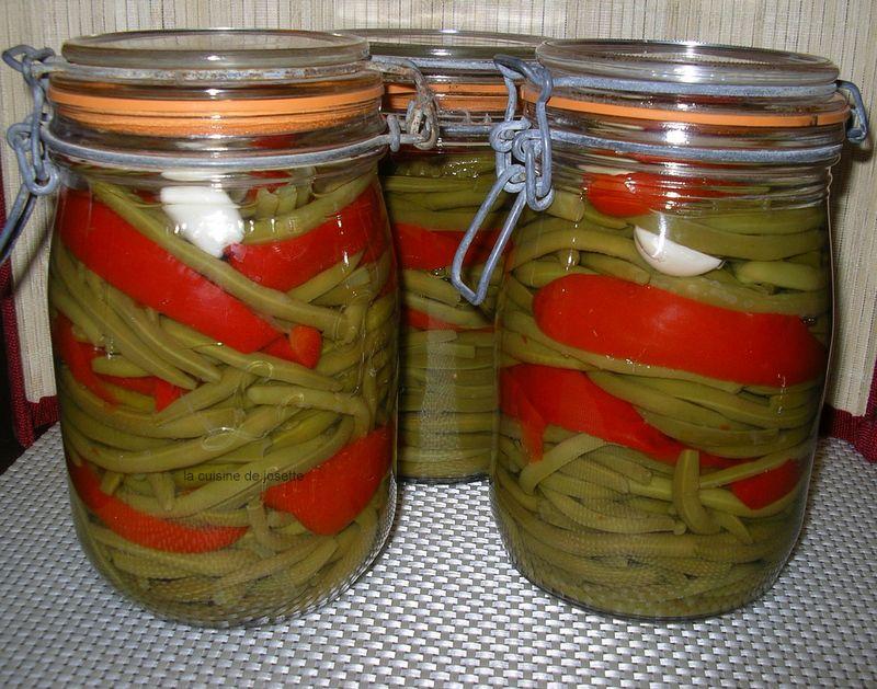 bocaux de haricots verts de Laurent mariotte