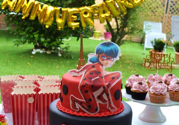 Gâteau d'anniversaire Miraculoos (LadyBug)