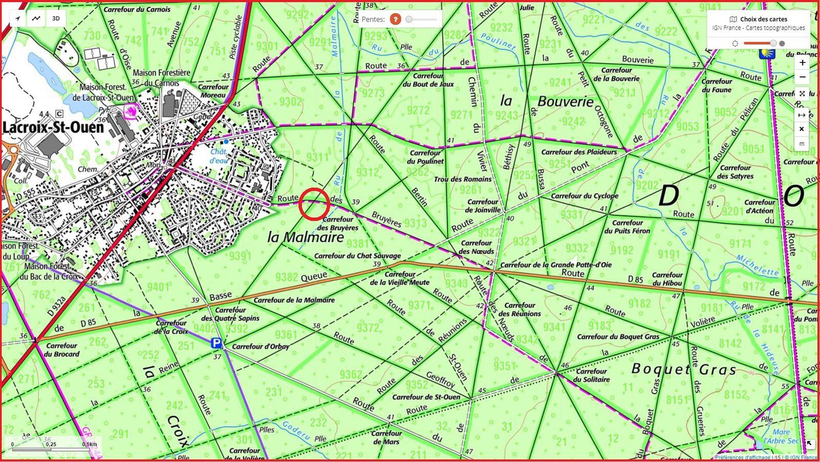 carrefour_Route de la Malmaire_Route des Bruyères