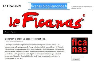 Signé par un curieux professionnel, un blog politique à suivre, Le Ficanas