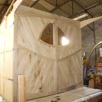 Habitation légère de loisir en cours de construction