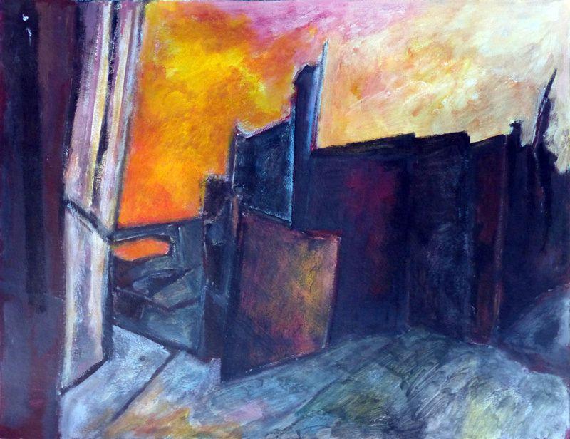 Cinq peintures de Ladin Sabras