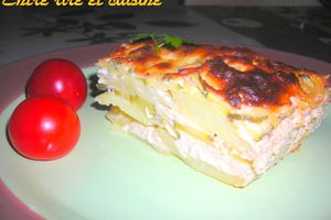 Millefeuille gratiné de pommes de terre et courgettes
