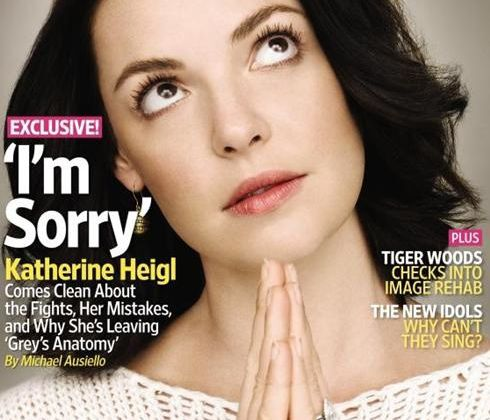 "Katherine Heigl - ""I'm Sorry"" dans Entertainment Weekly"