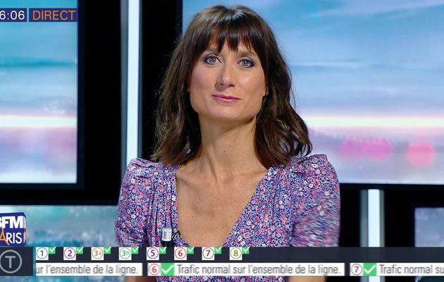 📸7 AURELIE BLONDE pour BONJOUR PARIS @JohannaCarlosD8 @BFMParis ce matin #vuesalatele