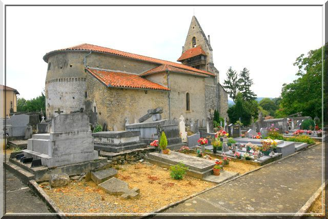 Diaporama église fortifiée de Ganties