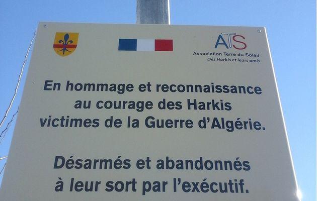 hommage a l'ancien camp de harkis de Pertuis (84)