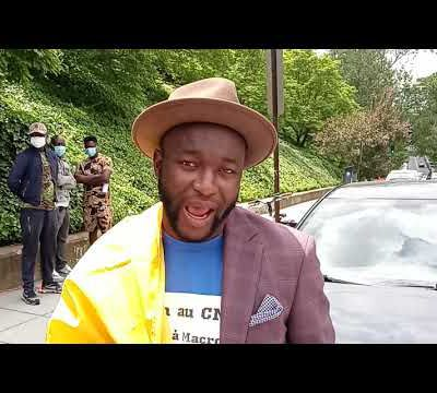 Black Power Media - Luqman Nation covers Chadian protest in Front of French embassy