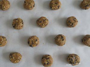 Cookies aux flocons d'avoine et chocolat noir