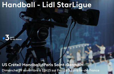 Créteil / Paris SG (Lidl Starligue) en direct dimanche sur France 3 Île de France et LNH TV !
