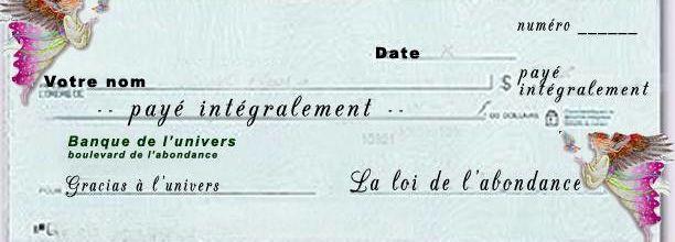 Chèque d'abondance!!!