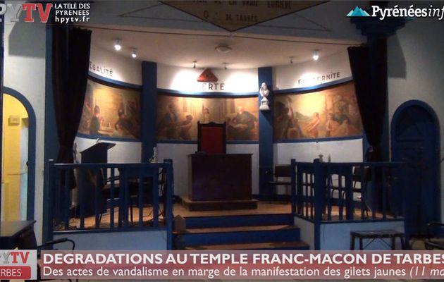 Le Temple des Francs-Maçons de Tarbes vandalisé (11 mars 19) | HPyTv La Télé de Tarbes