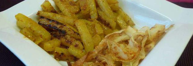 frites et chips de chou rave