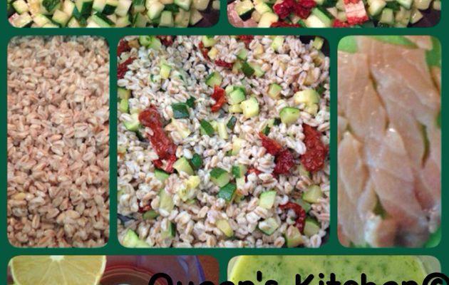 insalata tiepida di farro al salmone