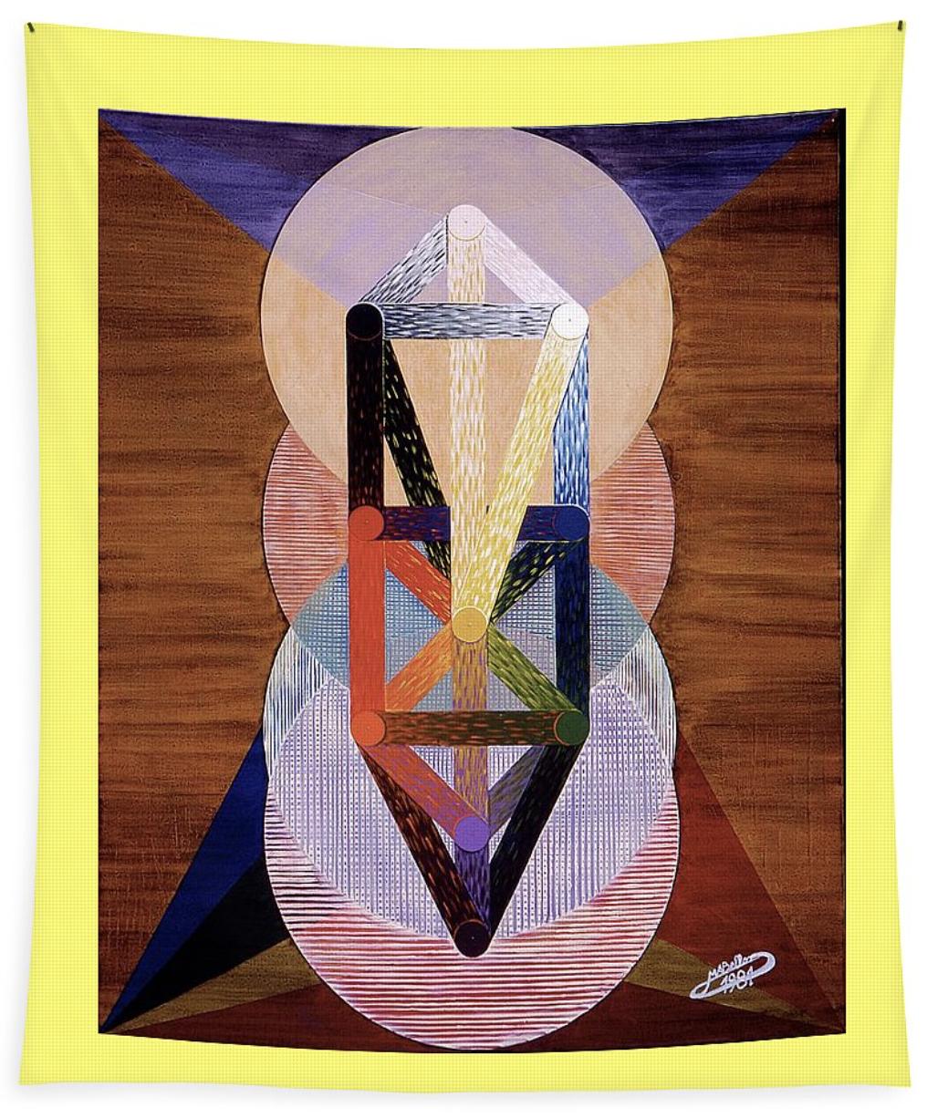 """Michaël BELLON - Artiste-peintre symboliste,""""Le Chariot""""."""