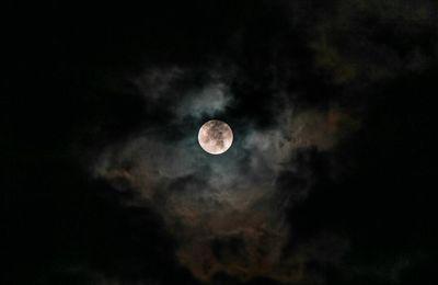 Le visage face a la lune