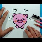 Como dibujar un cerdo paso a paso 8   How to draw a piglet 8