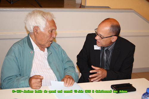 Les photos des premières assises harkis du grand sud le samedi 13 Juin 2015 à Saint-Laurent des Arbres