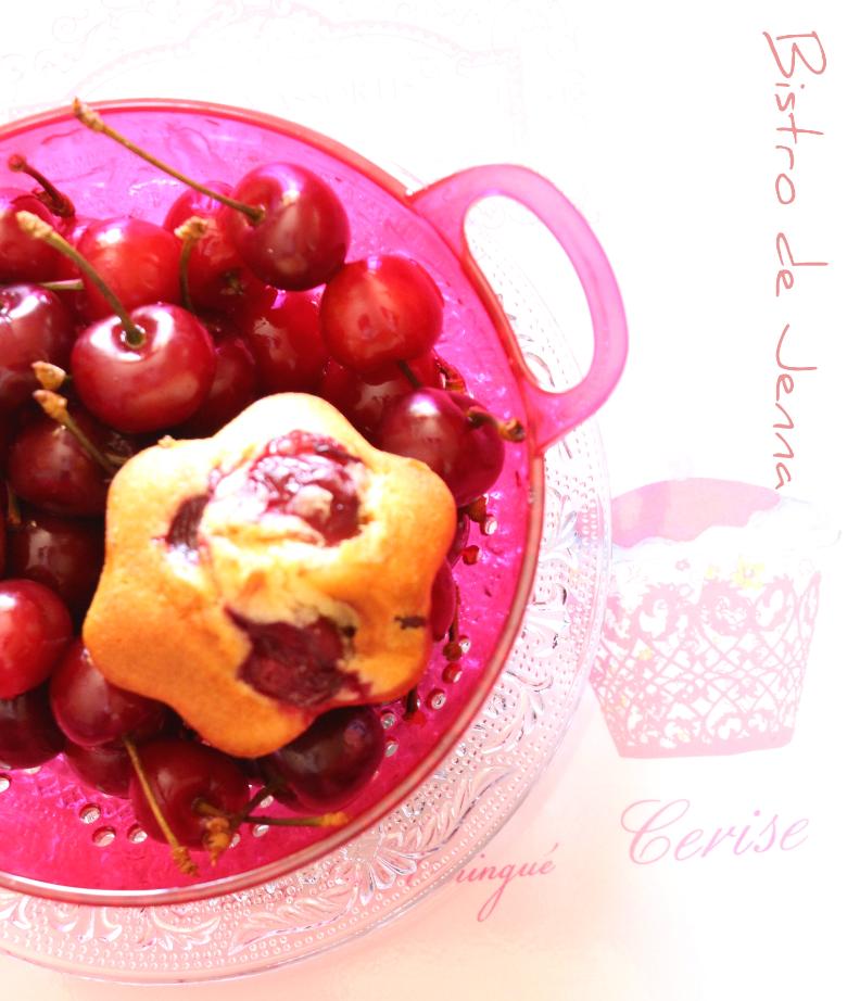 Muffins coeur cerise