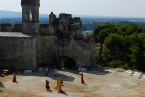 Animations médiévales - Théâtre de rue, farces, combats, concerts de harpe celtique - Festes du Castel - Château de Beaucaire - 26 juillet 2015