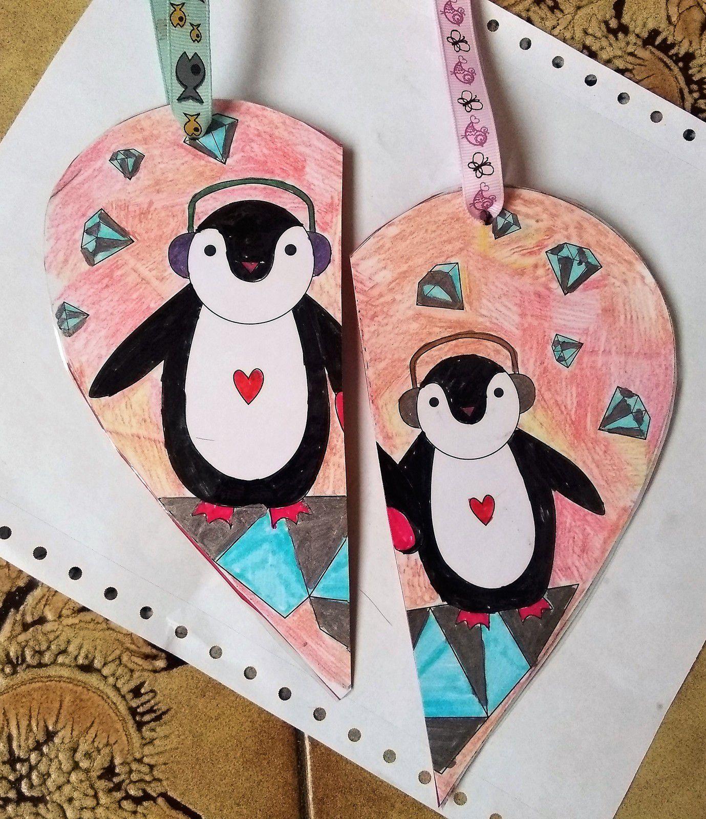 ~ Coeurs plastifiés fendus à suspendre, à offrir ou à partager ~ Avec affection, avec amour ~