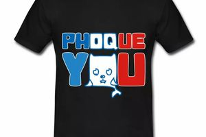 T shirt noir homme Phoque you