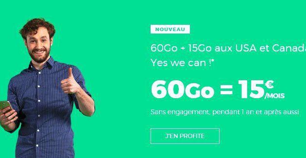 Opérateur mobile : La folle promesse du Forfait 4G International 60 Go pour 15 euros par mois à vie
