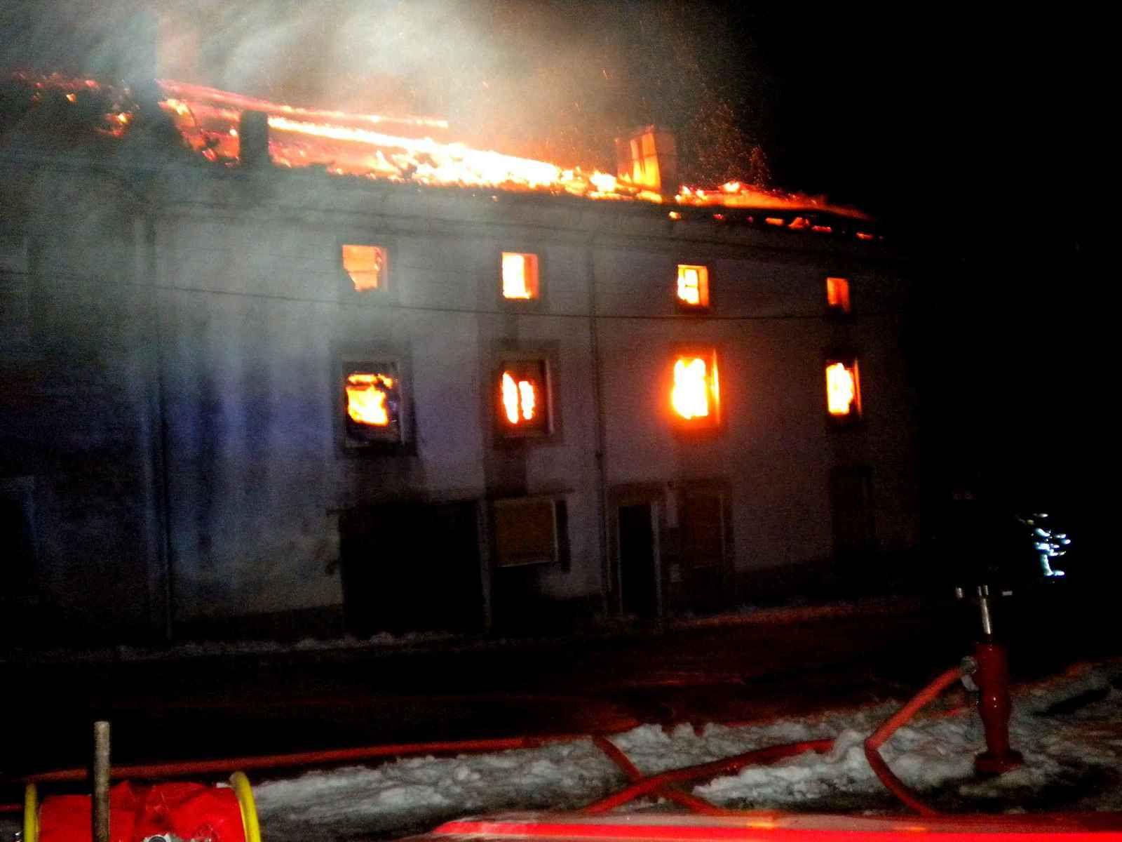 Incendie à Les Voivres. Maison Georges