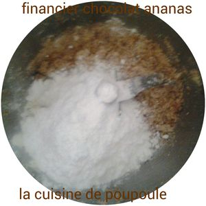 Financier chocolat et ananas au thermomix