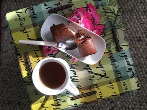 Moelleux au chocolat, baies de Goji et pistaches