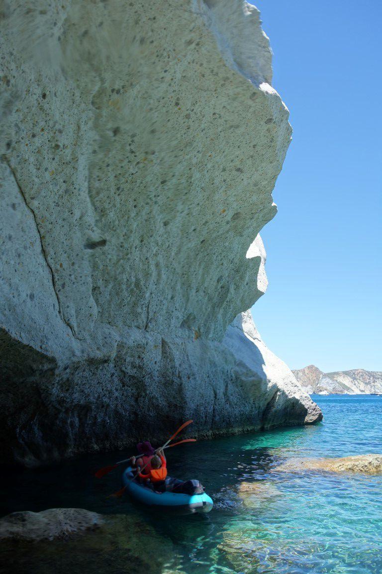 la formation de tuf blanc de Punta Bianca