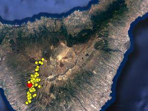 Séismes du 02.102016 sur Tenerife / image Avcan - et logo de Multiteide.