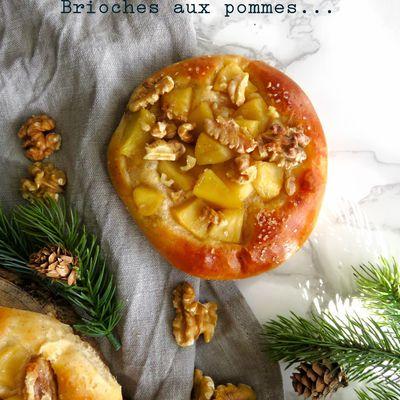 Brioches aux pommes et aux noix