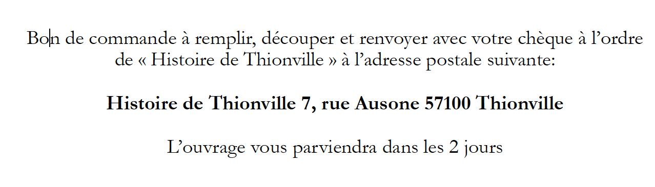 Terville & Thionville -  Vente de livres d'histoires locales Miscellanées