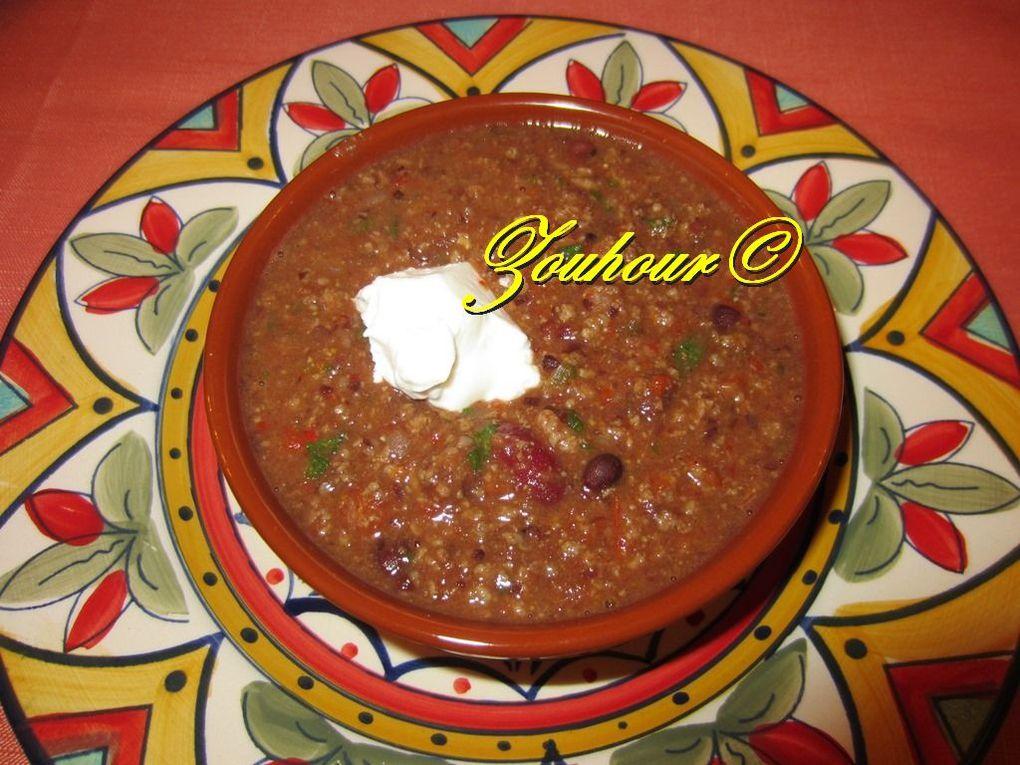 Chili casserole aux boeufs hachées et haricots noirs