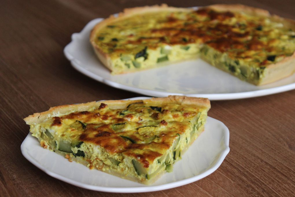 TARTE LEGERE COURGETTE FETA CURRY