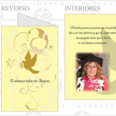 Díptico Paisaje Tarjetas Agradecimiento de Condolencia