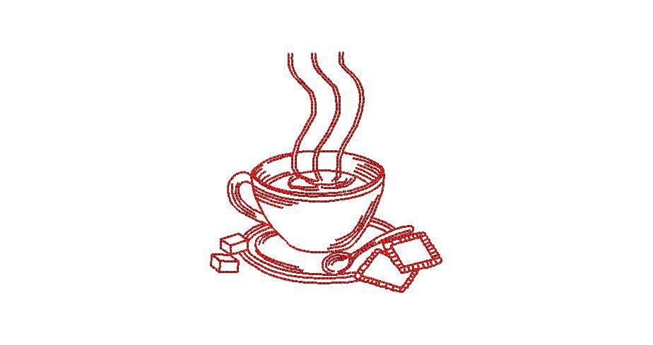 BRODERIE TASSE A CAFE