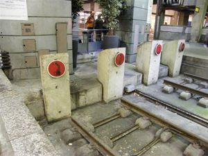 Heurtoirs en gare de Paris-Montparnasse