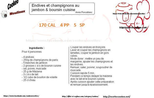 Endives jambon Boursin recette cookeo
