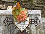 Les coeurs de cimetière de la chapelle Sainte-Madeleine en Languedoc