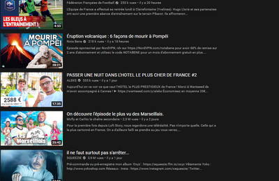 les tendances Youtube: analyse 2