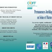 Le retour d'une permanence juridique pour les femmes : INFORMATION A RELAYER - Familles Laïques de Melun et Dal77