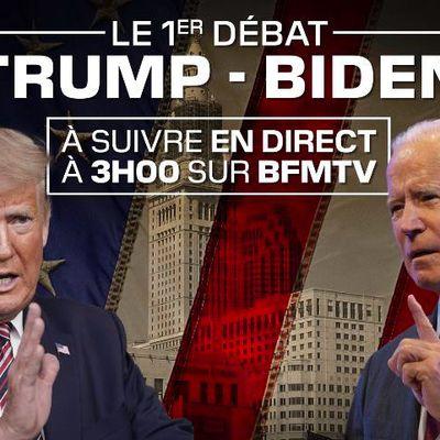 Le premier débat Trump / Biden à suivre en direct et en intégralité cette nuit sur BFMTV