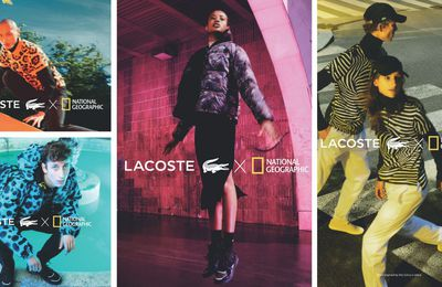 Cobranding : National Geographic et Lacoste sortent une collection règne animal