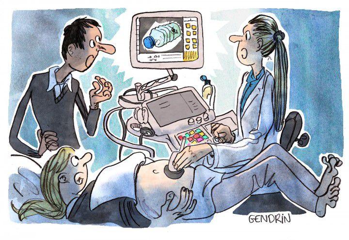 Dessin : © Étienne Gendrin/Reporterre…« Les perturbateurs endocriniens altèrent notre fertilité »…Plus qu'assez des technocrates fous ils prennent les contenants pour des…contenus...Autre preuve ?