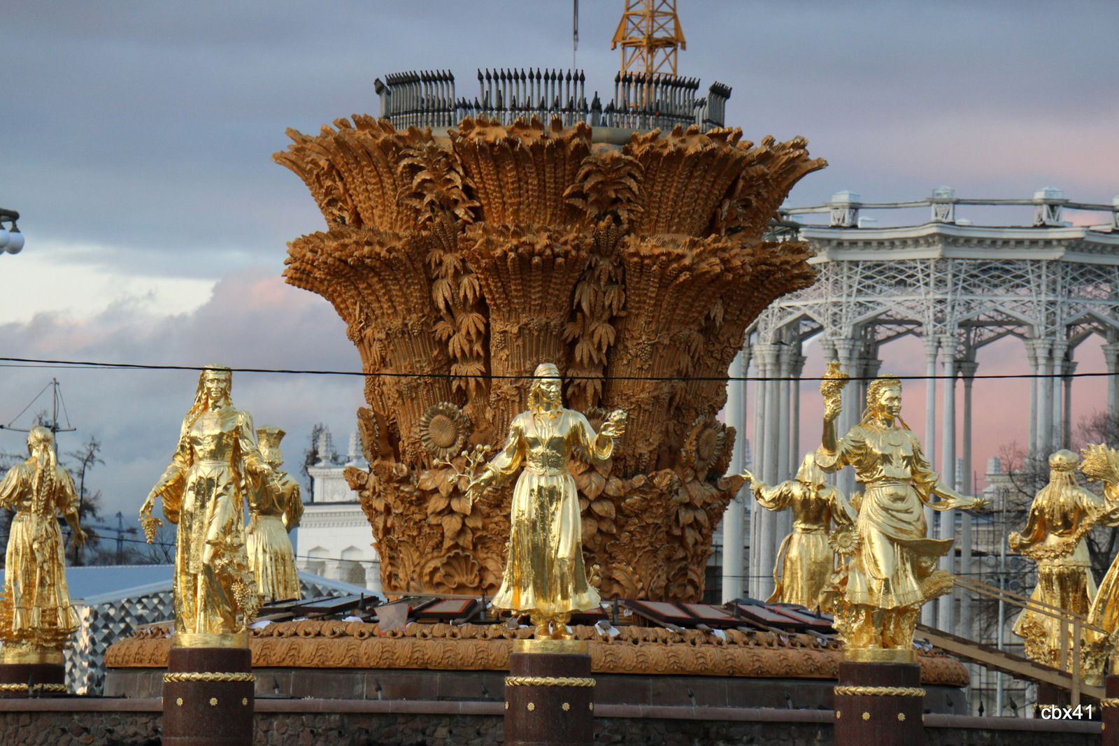 La fontaine de l'Amitié des Peuples,  Centre des expositions de Moscou