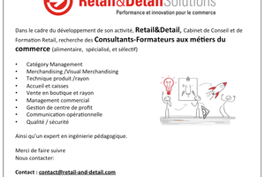 Recherche Consultants Formateurs aux métiers du Commerce